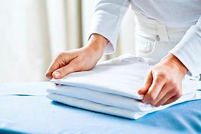 Plegable ropa planchada