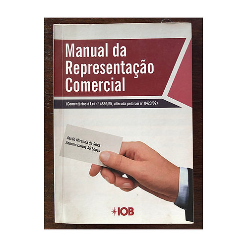 Manual da Representação Comercial (gratuito - use código promocional)