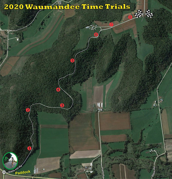 2020 Waumandee Time Trials course view g
