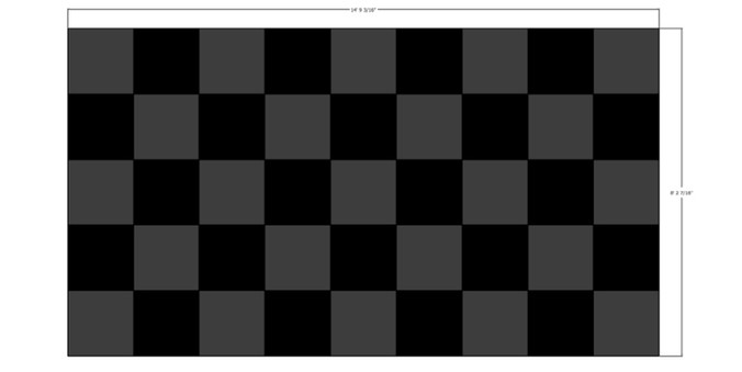 LED Checkered Backdrop