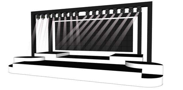 Art Deco Modern Stage
