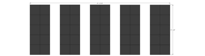 LED Vertical Panel Strips