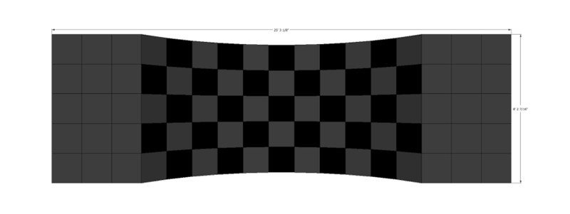 LED Checkered Concave Backdrop