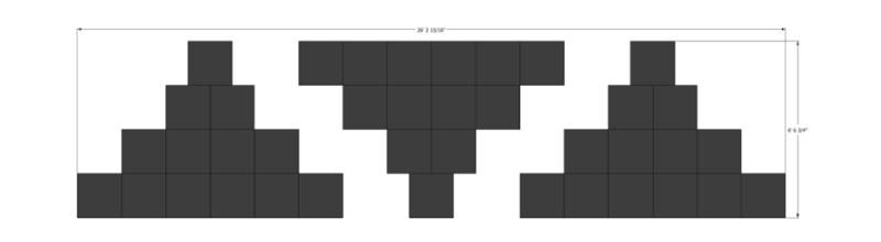 LED Tetris Backdrop