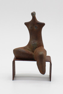 On the Bench 2 - clay and iron powder -