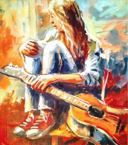 A garota e o seu violão  |  Girl with Guitar