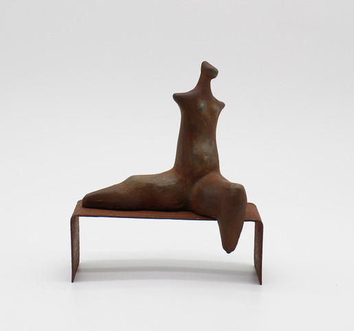 On the Bench 1 - clay and iron powder -
