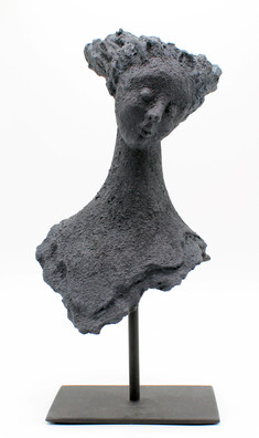 Face 5 - clay and iron powder - 15x34x14