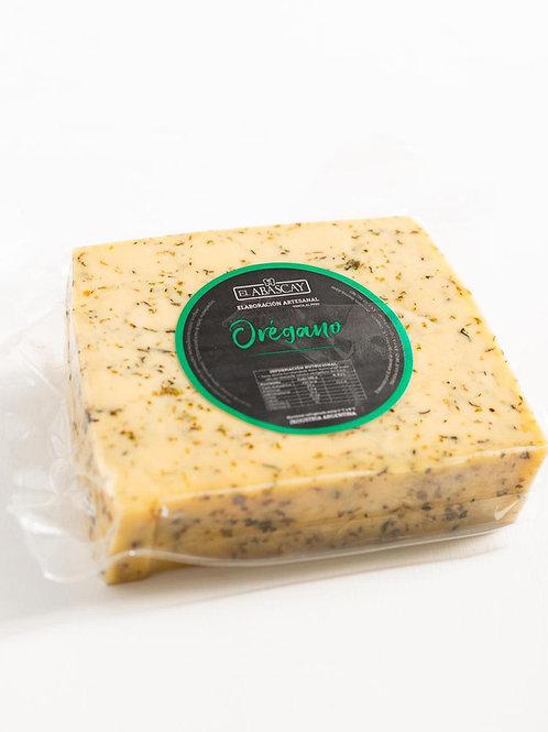Queso saborizado Orégano   (Cuña)