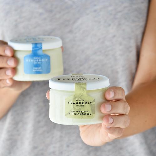 Yogurt entero MIX de Natural/Vainilla por 6 unidades. Libre de gluten.