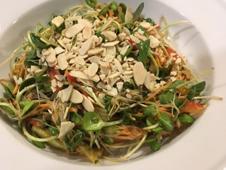Microgreen Salad with a Pad Thai Style Dressing
