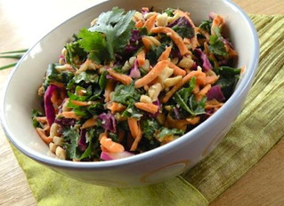 Kale Salad with Sweet Potato and Coconut-Lime Dressing