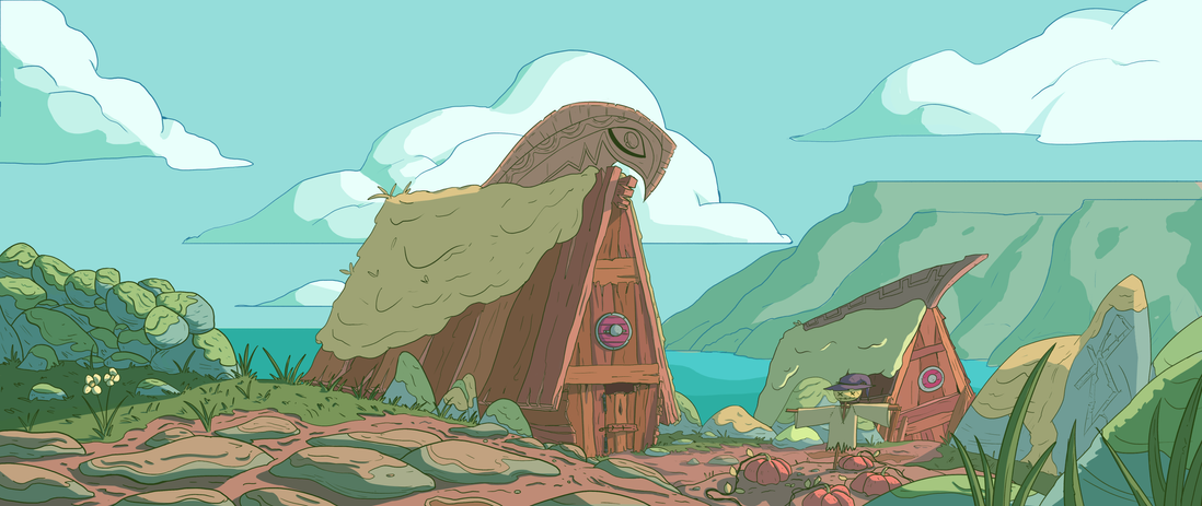 Viking village Colour