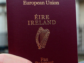 Irlandzkie obywatelstwo / Irlandzki paszport / naturalizacja.