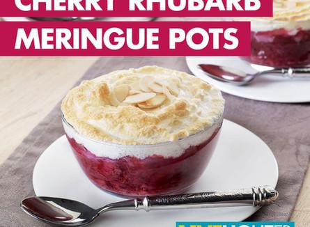 Live Lighter  - Cherry Rhubarb Meringue Pots