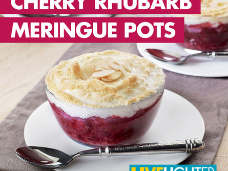 Live Lighter  - Cherry Rhubarb Meringue Pots