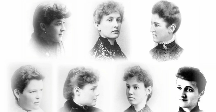 Founders of Alpha Chi Omega at DePauw University.