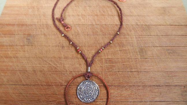 Ancient Circles Metal Necklace