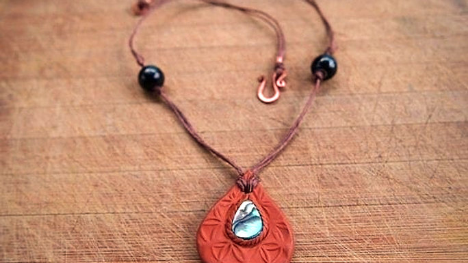 Flower Of Life Abalone Necklace