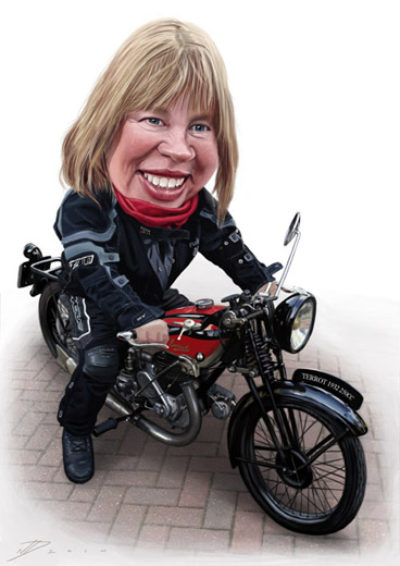 Gift caricature example