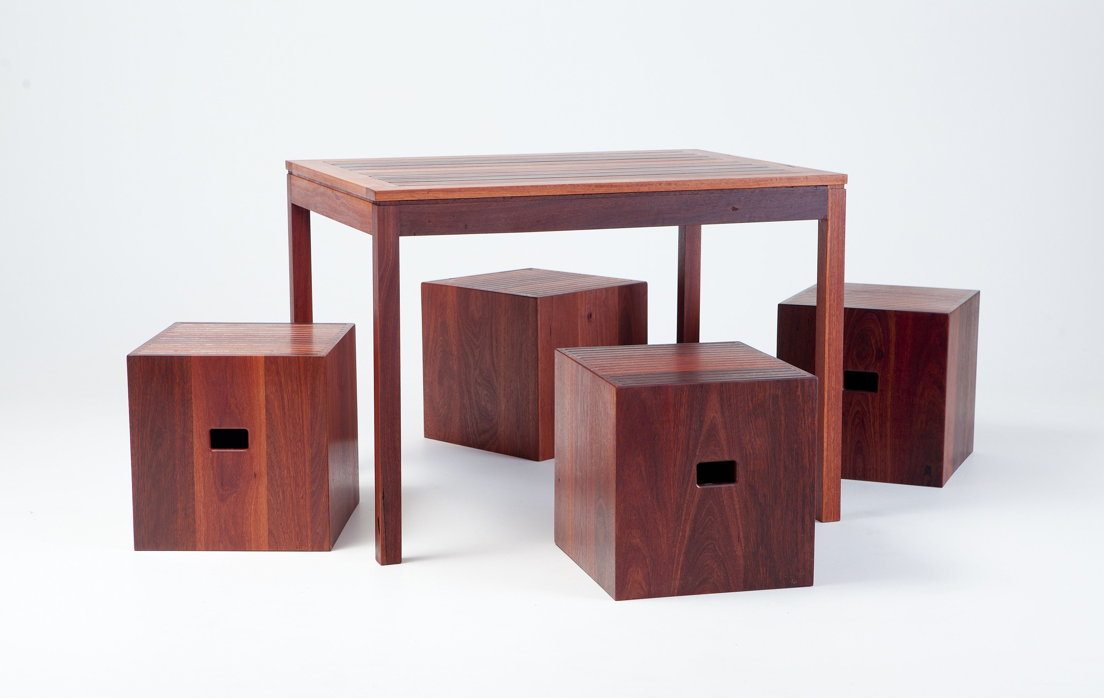 Table with cubes