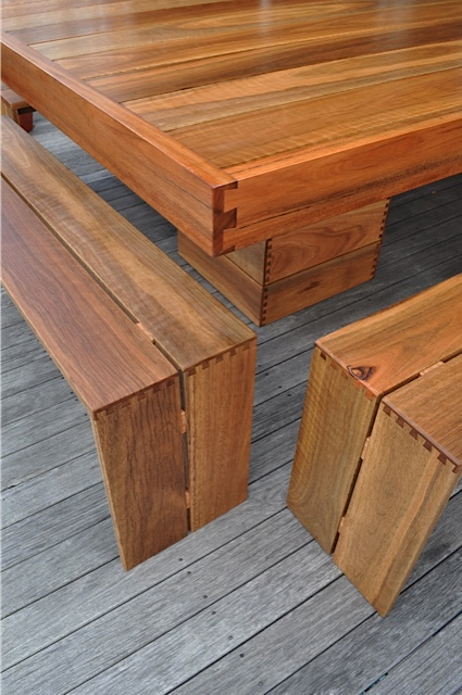 Square Dovetail Outdoor Table