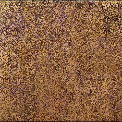 30x30 spessore 1cm - Oro Canaletto Blu