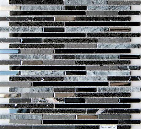 30x30 Mosaico Llluvia Nero