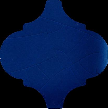 15x15 Arabesco A32 Blu Elettrico Lucido