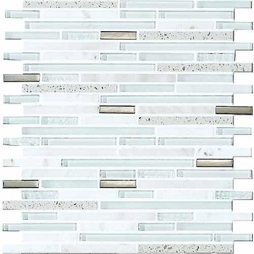 30x30 Mosaico Llluvia Bianco