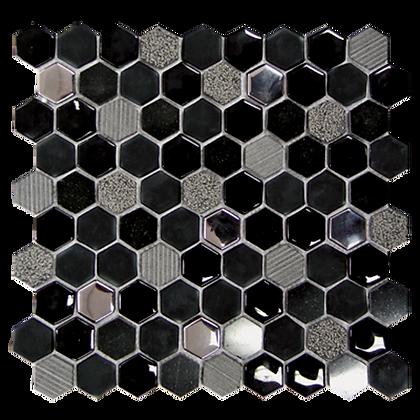 30x30 Mosaico EXA Nero