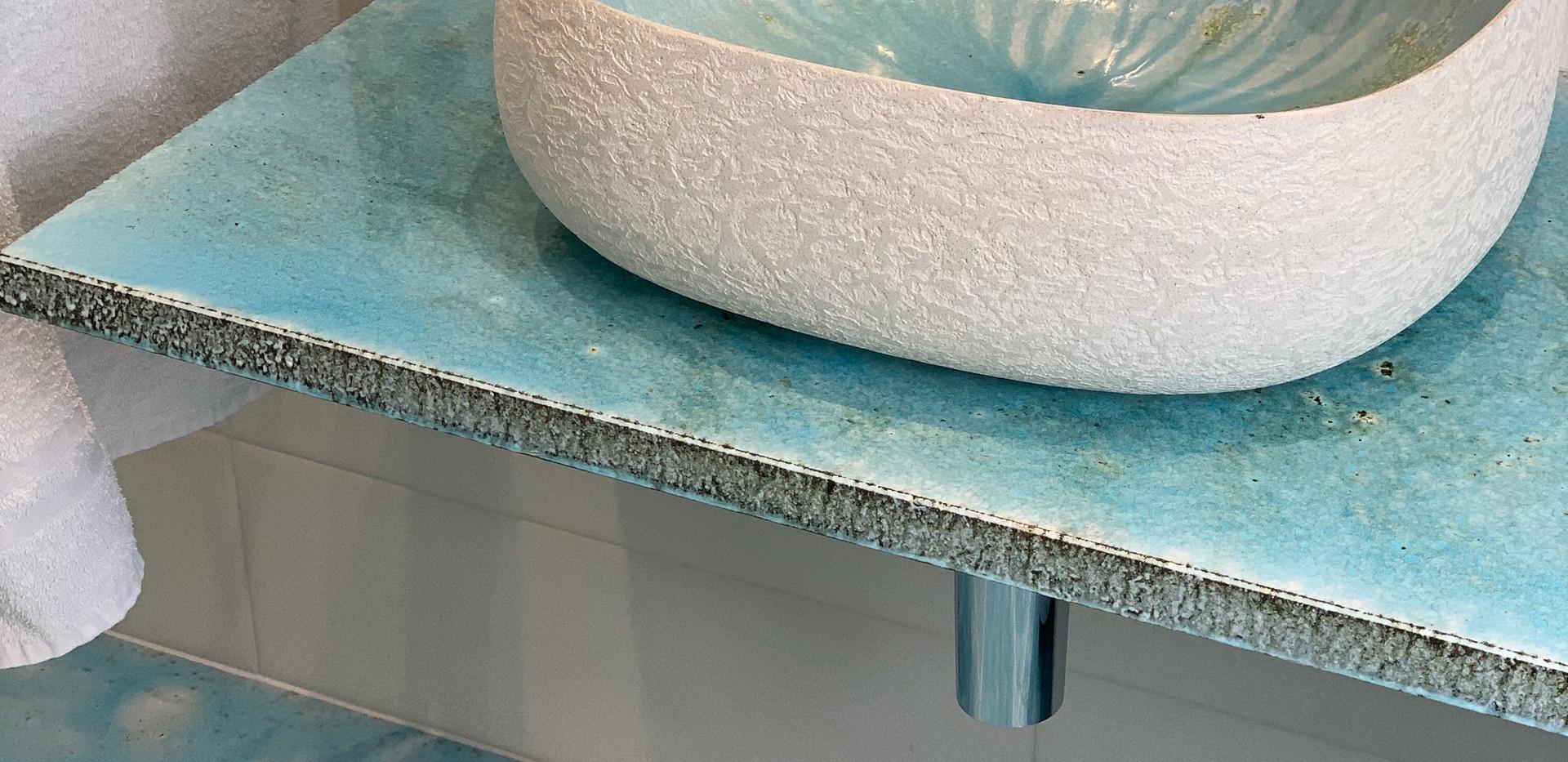 Lavabo Seed canaletto cielo interno, cemento esterno