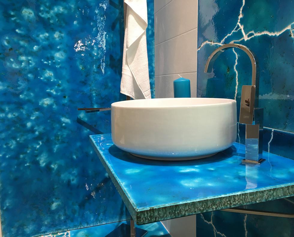 Piano in lava canaletto azzurro