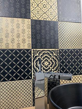 20x20 Decori Wonder's Patch nero e beige su WP360-WP355