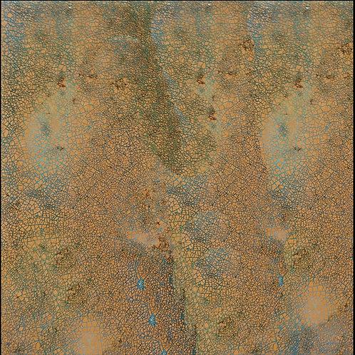 30x30 spessore 1cm - Oro Canaletto Azzurro