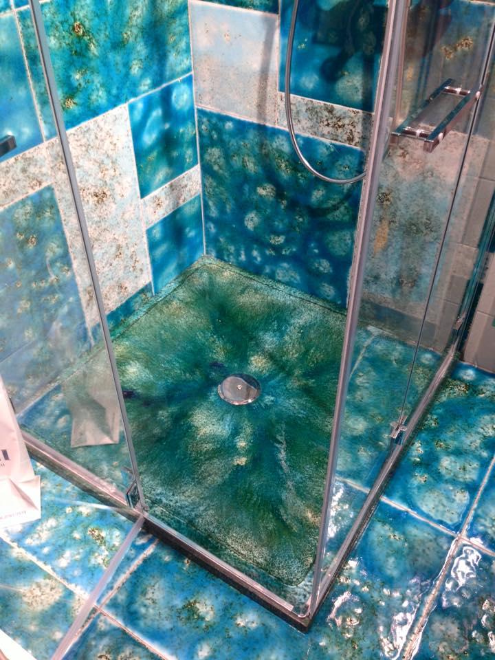Canaletto Azzurro Piatto doccia pietra lavica