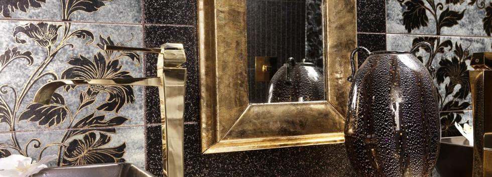 Piano in lava Oro Venezia su galassia miele