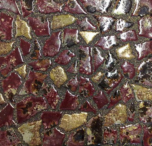 30x30 Opus 3-6cm Oro Venezia - Galassia Bordeaux