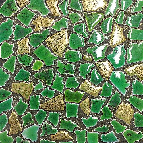 30x30 Opus 3-6cm Oro Venezia - Canaletto Verde Chiaro