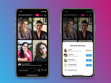 O Instagram Live Rooms permite que os criadores adicionem 3 usuários a uma sessão ao vivo.