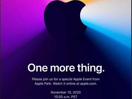 """""""Mais uma coisa"""" - Apple anuncia o terceiro evento de lançamento em 2020"""