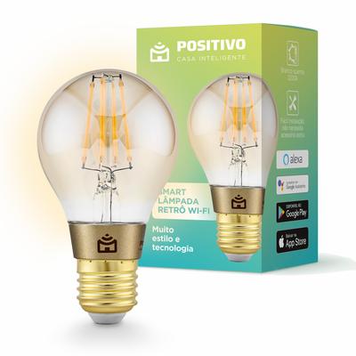 Smart Lâmpada Retrô Wi-Fi - Positivo