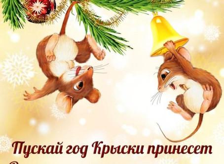 С новым годом поздравляем счастья и любви желаем!