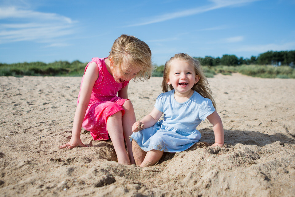 Yellowcraigs family girls beach