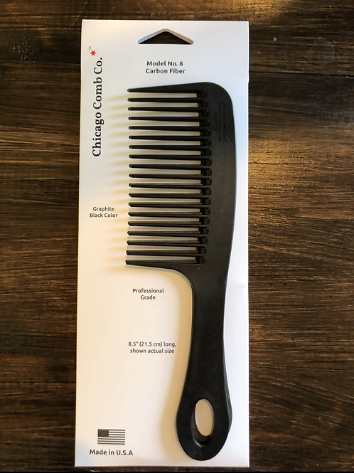 Chicago Comb Co. Model No. 8 Carbon Fiber