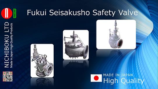 Fukui Seiakusho Safety Valve