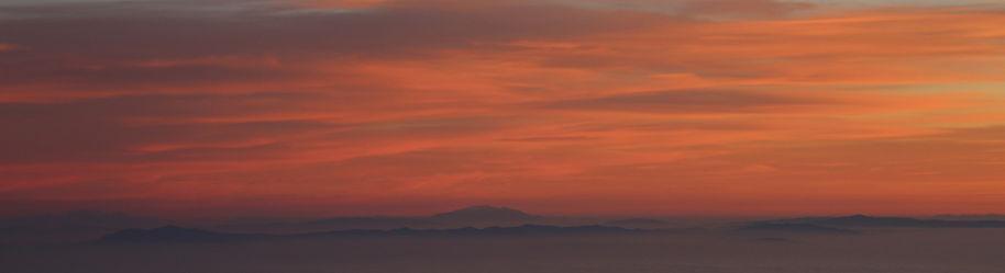 Sunrise in the mountains, photo artist Yulia Dotsenko.