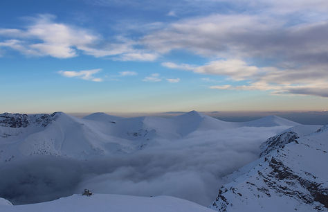 Mountains, clouds, Greece, photo by Yulia Dotsenko.