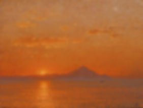Mt Athos, by Yulia Dotsenko, 2014. Pastels on paper.