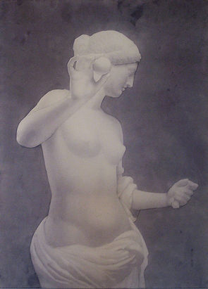 by Yulia Dotsenko,Venus of Arles, 2009. Wash drawing.